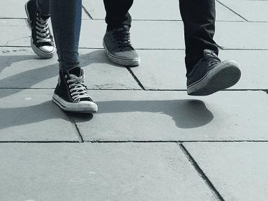 walking pavement