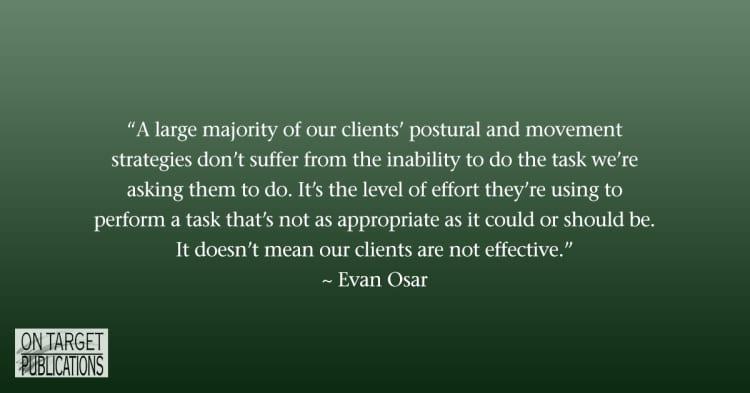 Corrective exercise, Evan Osar