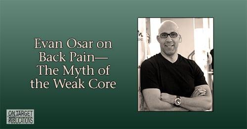 weak core, low back pain