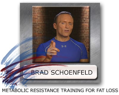 training for fat loss Brad Schoenfeld