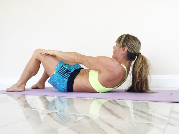 Performing sit ups while pregnant in the second half of the pregnancy will cause too much pressure on the uterus and lower back. Try to avoid direct abdominal exercises in the latter half of the pregnancy.
