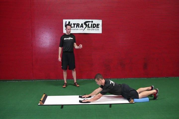 Sean Skahan slideboard training