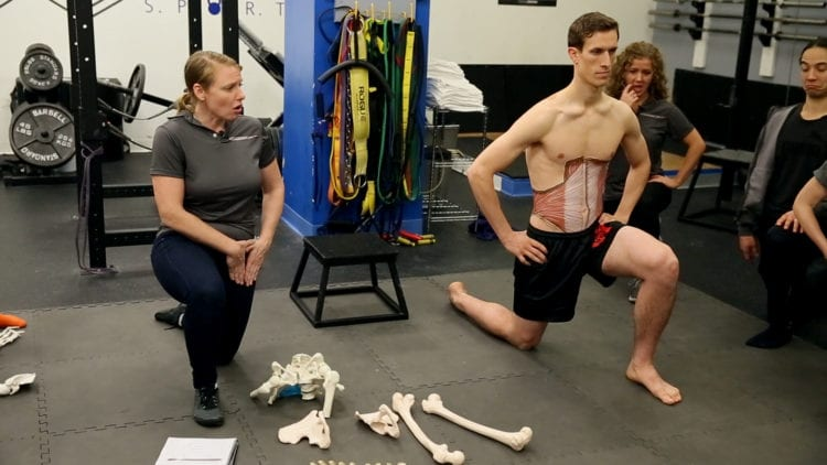 using the lunge to training hip compression