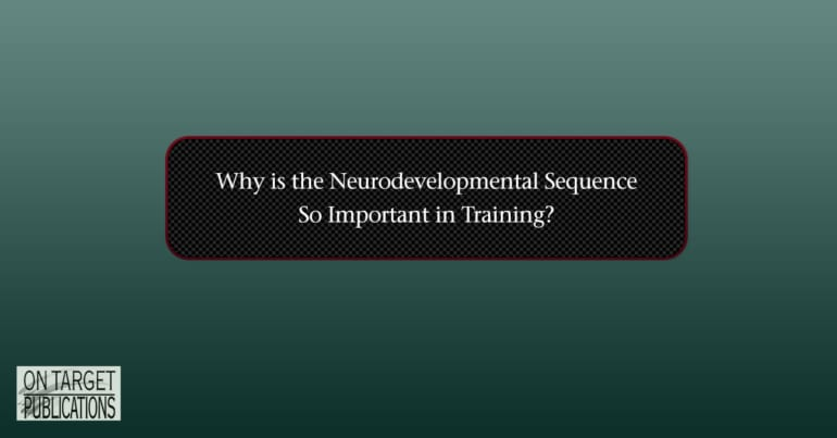 why is the neurodevelopmental sequence important in training