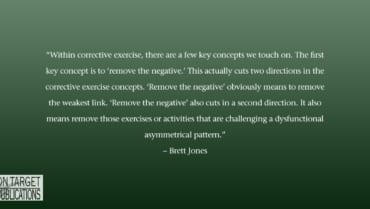 corrective exercise with Brett Jones
