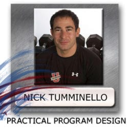 nick tumminello program design, workout program design, exercise programming
