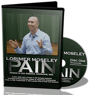 pain researcher lorimer moseley, lorimer moseley video, pain research lecture lorimer moseley